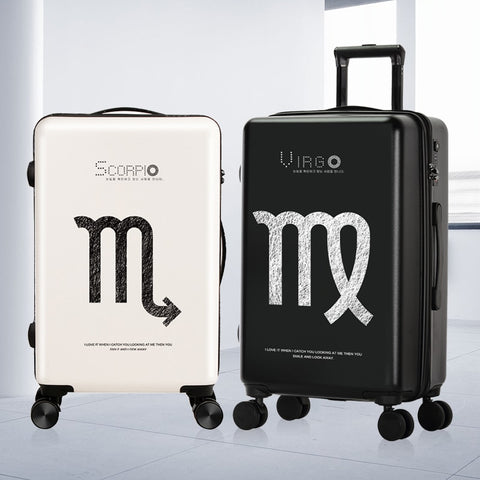 Luggage Set Fashion Constellation Spinner Carry On Luggage Bag Boarding Case Traveling Luggage Bags