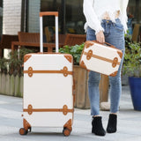 Retro Suitcase,Set Of Trolley Case,Men And Women Valise,Korean Version Of The Small Fresh Lock