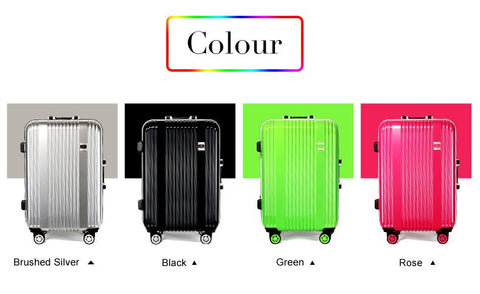 New Arrival!24 Inch Hotsale Aluminum Frame Travel Luggage,Green/Silver/Black/Rose Color Universal
