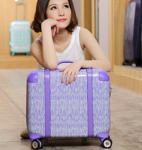 Trolley Luggage Travel Bag Luggage Multifunctional Box 17 Trolley Computer Bags,Women High