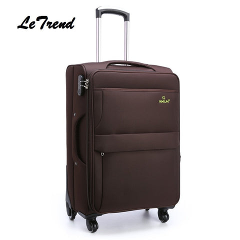 Letrend Men Rolling 28 Inch Luggage Spinner Travel Bag Suitcases Wheel Trolley Business Carry On