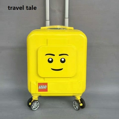 Travel Tale Cartoon Children 16 Inch Size Pc Backpack Plus Rolling Luggage Spinner Brand Travel