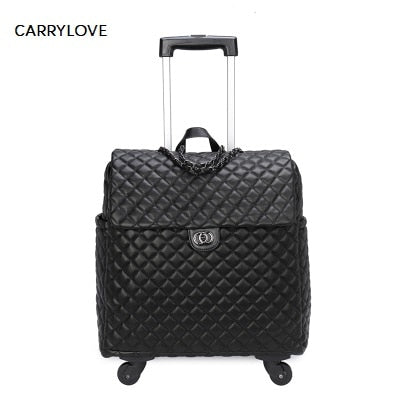 Carrylove High Quality Fashion 18 Inch Portable Female Luggage Spinner Brand Travel
