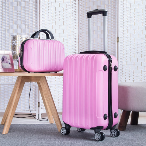 "Rolling Luggage Set 26""Travel Suitcase With Wheels Spinner Trolley Case Abs Travel Bag Box Ladies"
