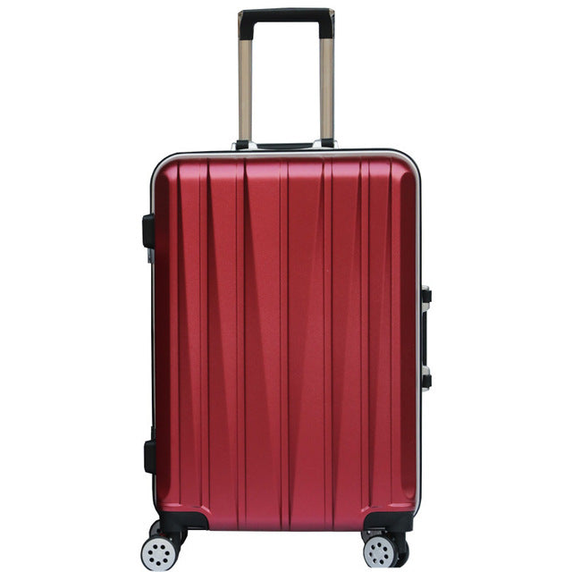 "20""24 Inch Aluminum Frame Luggage Universal Wheel Trolley Password Lock Suitcase Abs+Pc Hard"