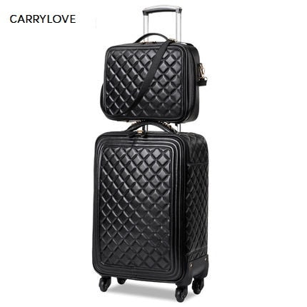 Carrylove  Stylish Simplicity16/20/24 Size High Quality Rolling Luggage Spinner Brand Travel