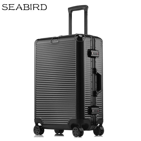 "Seabird 20"" 24"" 26"" 28"" Aluminum Frame Travel Trolley Luggage Spinner Carry On Cabin Rolling"