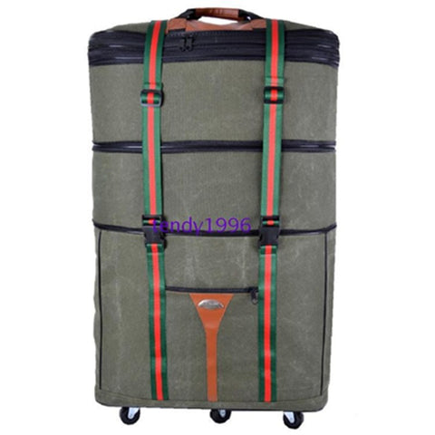 "Ultra-Light Canvas Travel Bag,Move House Large Capacity Trolley Luggage Bags,34"" 42"" Bags On"