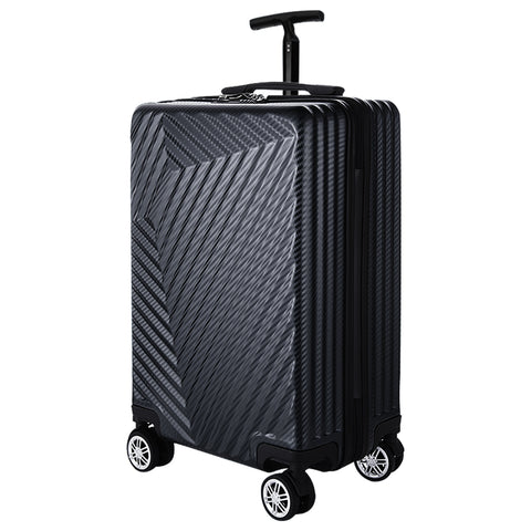 Fashion Abs+Pc Trolley Case,Scratch-Resistant Luggage,Silent Universal Wheel Password Lock