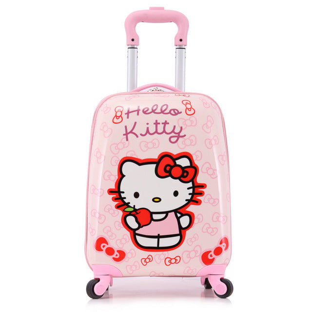 "Fashion!18"" Cute Pp Hello Kitty/Mouse/Princess Travel Luggage Bags For Children,Kids Cartoon"