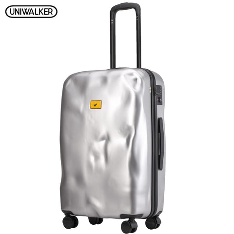 Uniwalker Abs+Pc Unisex Crash Design 20'' Boarding Luggage Travel Trolley Rolling Luggage With