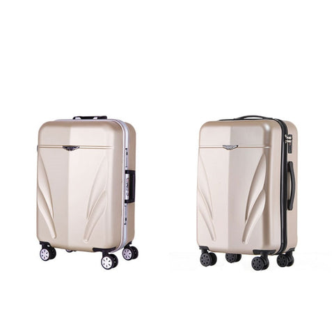 "Scratch-Durable Luggage,22""/24""Retro Universal Wheel Aluminum Suitcase,Leather Trunk,High-Grade"