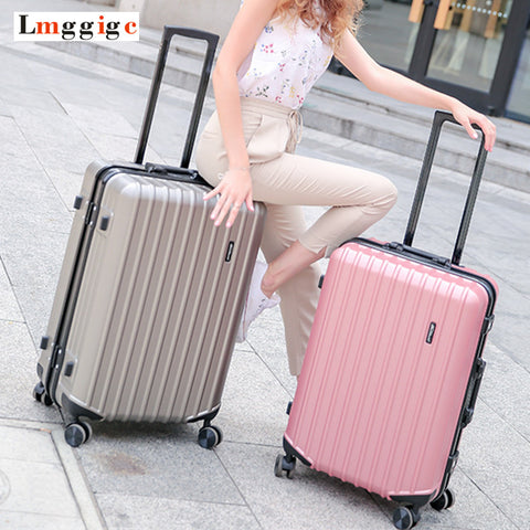 Aluminum Frame & Zipper Rolling Suitcase,Pc + Abs Travel Luggage Bag ,Universal Wheel Trip