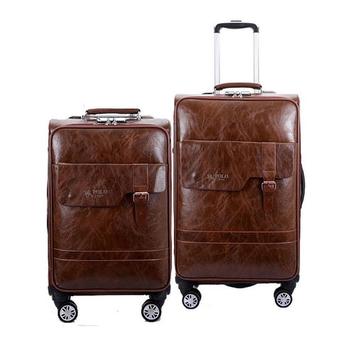 "Pu Trolley Case,Universal Wheel Luggage,High Quality Password Lock Box,20""Portable Boarding"