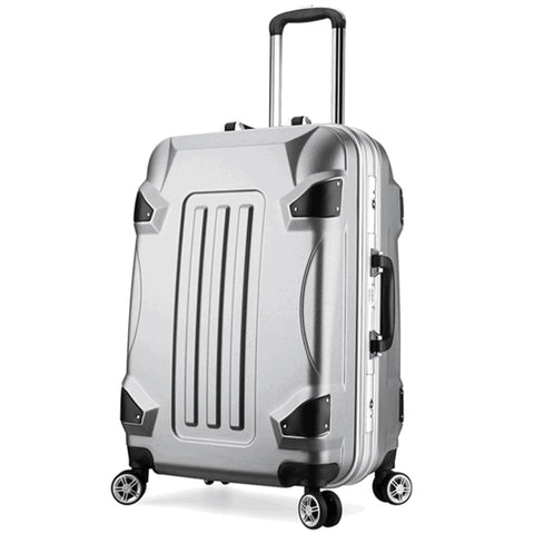 Fashion Trolley Case,Aluminum Frame Luggage,Male And Female Universal Wheel Travel Boarding
