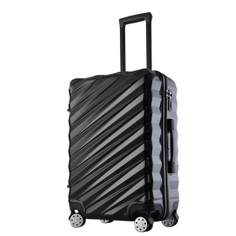 "New Fashion 20""24""26''28""  Rolling Hardside Luggage Travel Suitcase With Wheels Abs+Pc Suitcase"