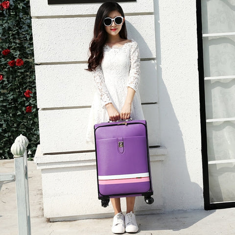 Suitcase Trolley Luggage Female Male Universal Wheels Travel Luggage Bag 20 24 Password Box Pull