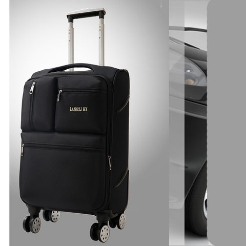Letrend Spinner Rolling Luggage Men Travel Bag  Women Suitcases Wheel Trolley 20 Inch Business