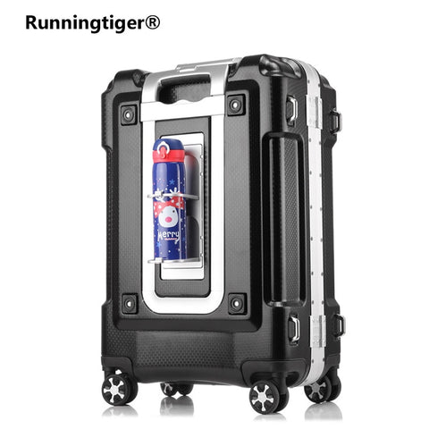 Business Aluminum Frame Rolling Luggage Spinner 20 Inch Suitcase Carry On Wheels 29Inch Travel