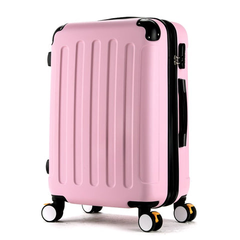 Wholesale!High Quality 28Inches Candy Color Abs Pc Travel Luggage Bags On Brake Universal