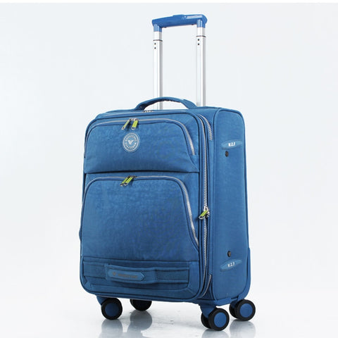 Water Wash Cloth Fabric Waterproof Travel Bag Luggage Bag Universal Wheels Trolley Luggage