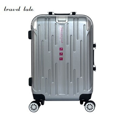 Aluminium Rod High-End Abs Aluminum Frame Rod Rolling Luggage Spinner Brand Travel Suitcase