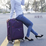 "Oxford Cloth Suitcase,With Brake Universal Wheel 24""Trolley Case,22""Travel Luggage,20""Boarding"