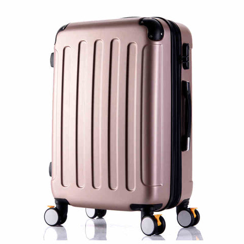 Wholesale!High Quality 26Inches Candy Color Abs Pc Travel Luggage Bags On Brake Universal