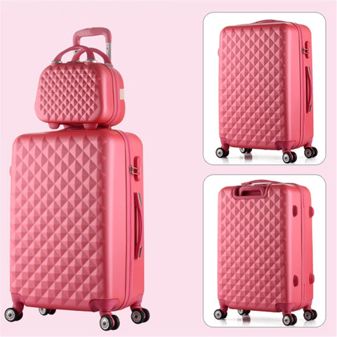 Universal Wheels Luggage Suitcase Trolley Luggage Travel Bag Candycolor Picture Box Password Box