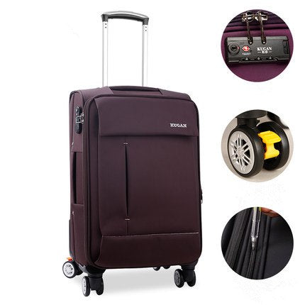 20 22 24 26Inch Oxford Fabric Waterproof Travel Luggage Bags On Braked Universal Wheels,High
