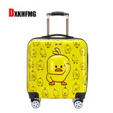2019 New Fashion Abc Small Yellow Duck Children'S Trolley Case  Maletas De Viaje Con Ruedas Envio