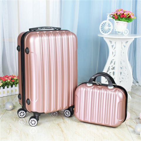 20Inch Two Pieces Set Of Luggage,Universal Wheel Boarding Box,Mini Suitcase,Beautiful