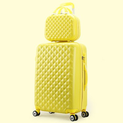 7456dfb7f Wholesale!14 22Inches Korea Fashion Candy Color Purple Abs Hardside Case  Trolley Travel Luggage Set