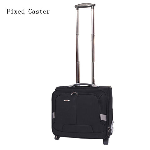 16 Inches Nylon One-Way Round Small Commercial Computer Trolley Luggage,Man High Quality Travel