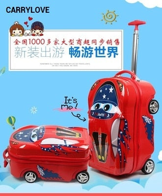 Carrylove Cartoon Luggage Series 18 Size  Boarding Pc  Suitable For Children Rolling Luggage