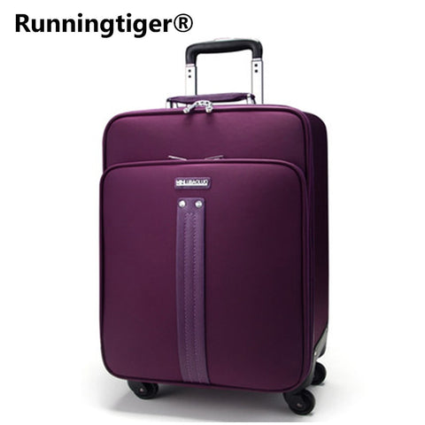 "Oxford Trolley Luggage Travel Bag 16"" 20 Inch Password Box 24 Inch Universal Wheel Female"