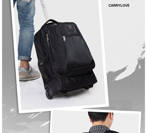 Carrylove Business 18 Size High Quality Nylon Luggage Spinner Brand Travel Suitcase