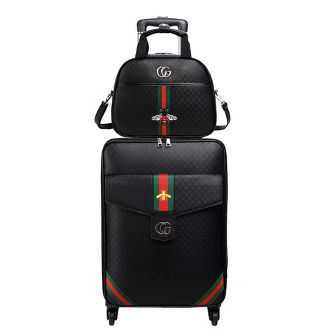 Retro Rolling Luggage Set Spinner Women Trolley Case 24Inch Travel Suitcase Set With Wheels 20 Inch
