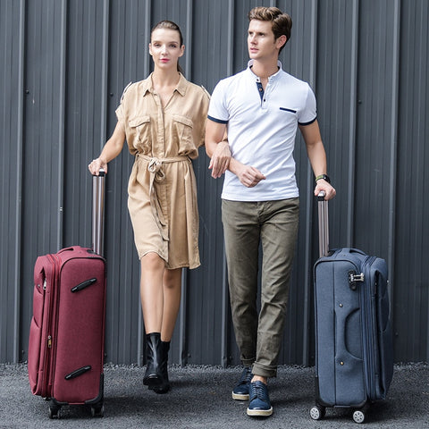 Cool Fluid Oxford Fabric Box Luggage Female Universal Wheels Trolley Luggage Bag Travel Bag Male