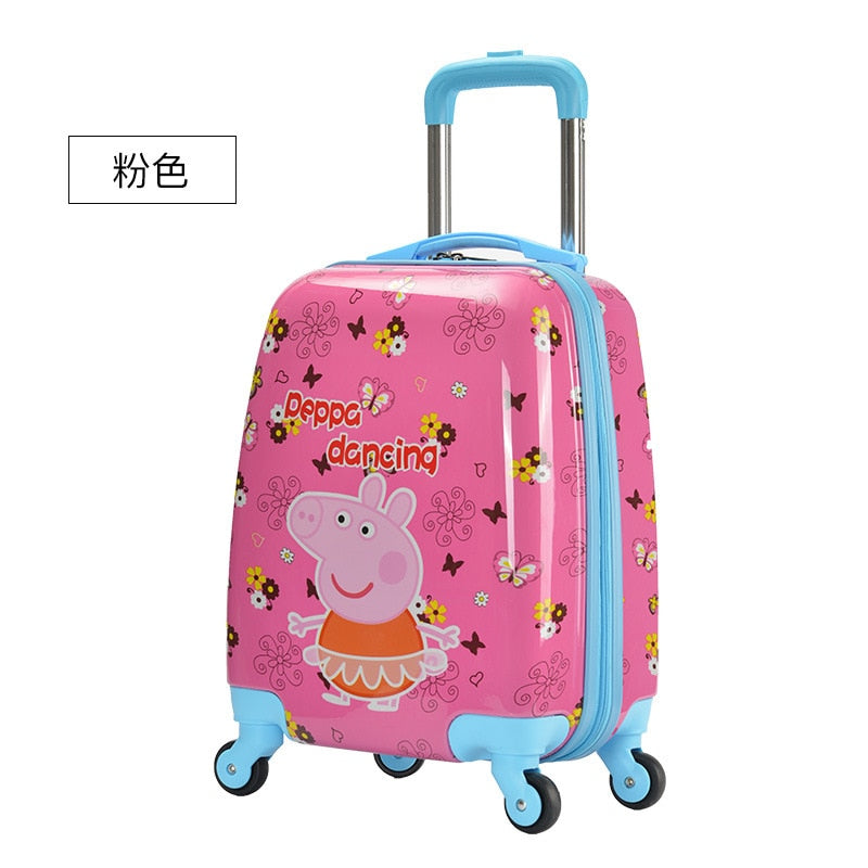 Luggage Bag Manufacturers Custom Pull Rod Box 16 Inches Cute Cartoon Children Pull Rod Box