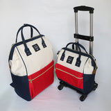New Arrival!18Inches Canvas Travel Bag Set,Mother&Son Travel Luggage Set On Universal