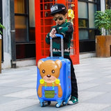 Children'S Trolleycase,Child Boarding Luggage,Universal Wheel Baby Cute Travel Suitcase,Password