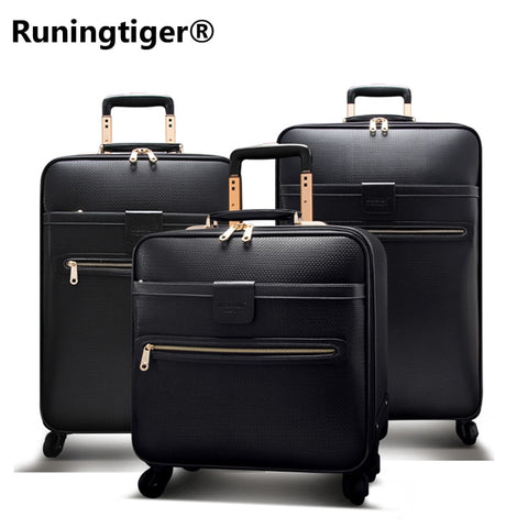 "Men'S Or Women'S Travel Cases Waterproof Luxury Travel Case 16"" 20"" 24"" Leather Case Business"