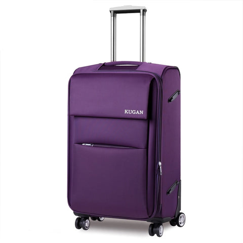 Cool Universal Wheels Trolley Luggage Oxford Fabric Box Travel Bag Luggage 18 20 22 24 26 28 Inches