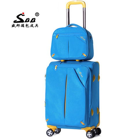 New Arrival! Surbana Picture Box Luggage Female Universal Wheels Trolley Luggage Travel Bag