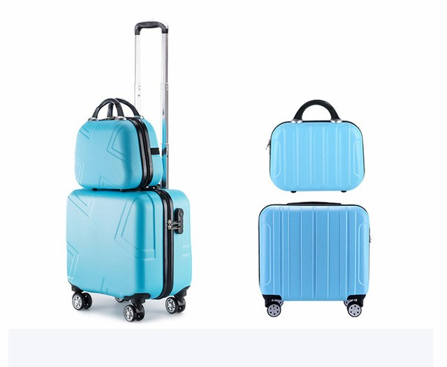 Suitcases And Travel Bags18 Inch Spinner Waterproof Kids Luggage Mini Carry On Luggage Set