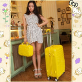 Korea Fashion Girl Lovely Candy Color Travel Luggage Sets On Universal Wheels,High Quality 14