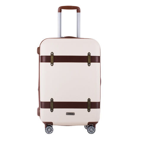 Wholesale!20 24Inches Abs Hardside Case Retro Trolley Luggage On Universal Wheels,High Quality