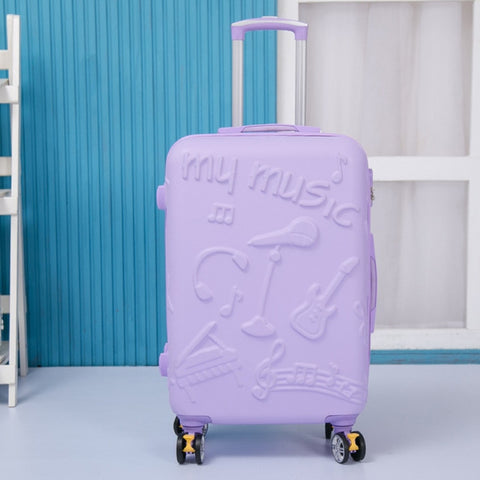 Candy Color Trolley Case,20 Inch Cartoon Boarding Box,Universal Wheel 24 Inch Student Luggage,Trend