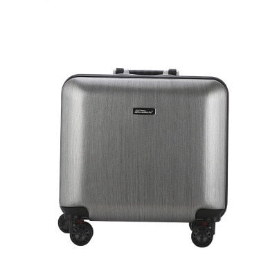 "18""Aluminum Frame Trolley Case,Universal Wheel Boarding Box,Fashion Travel Suitcase,Rolling"